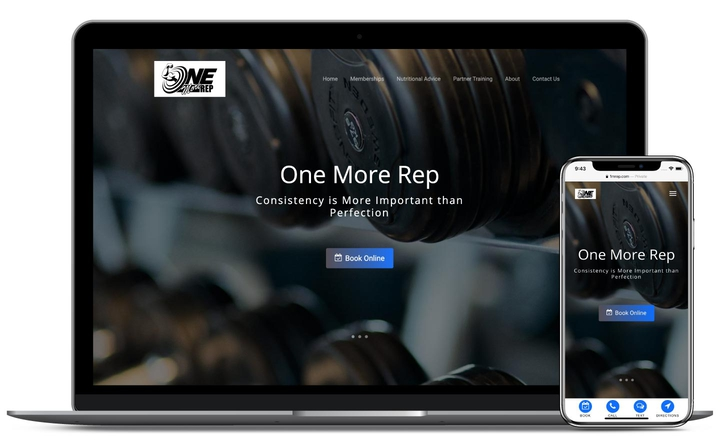 PremPage Fitness Trainer Example Website